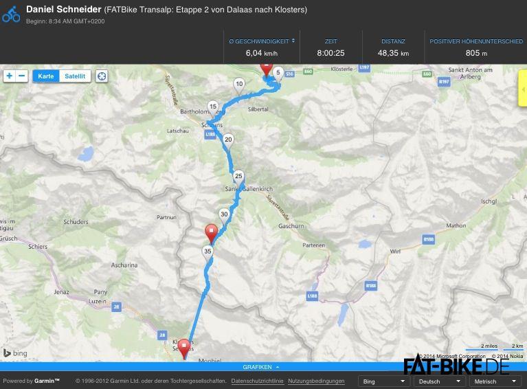 FATBike Transalp Etappe 2