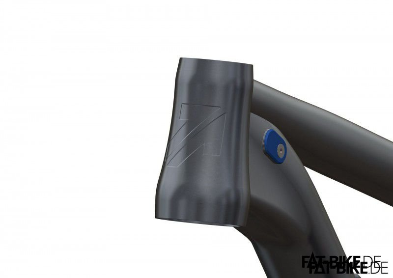Tapered Steering Tube mit fettem Alutech Logo (Quelle: Alutech)
