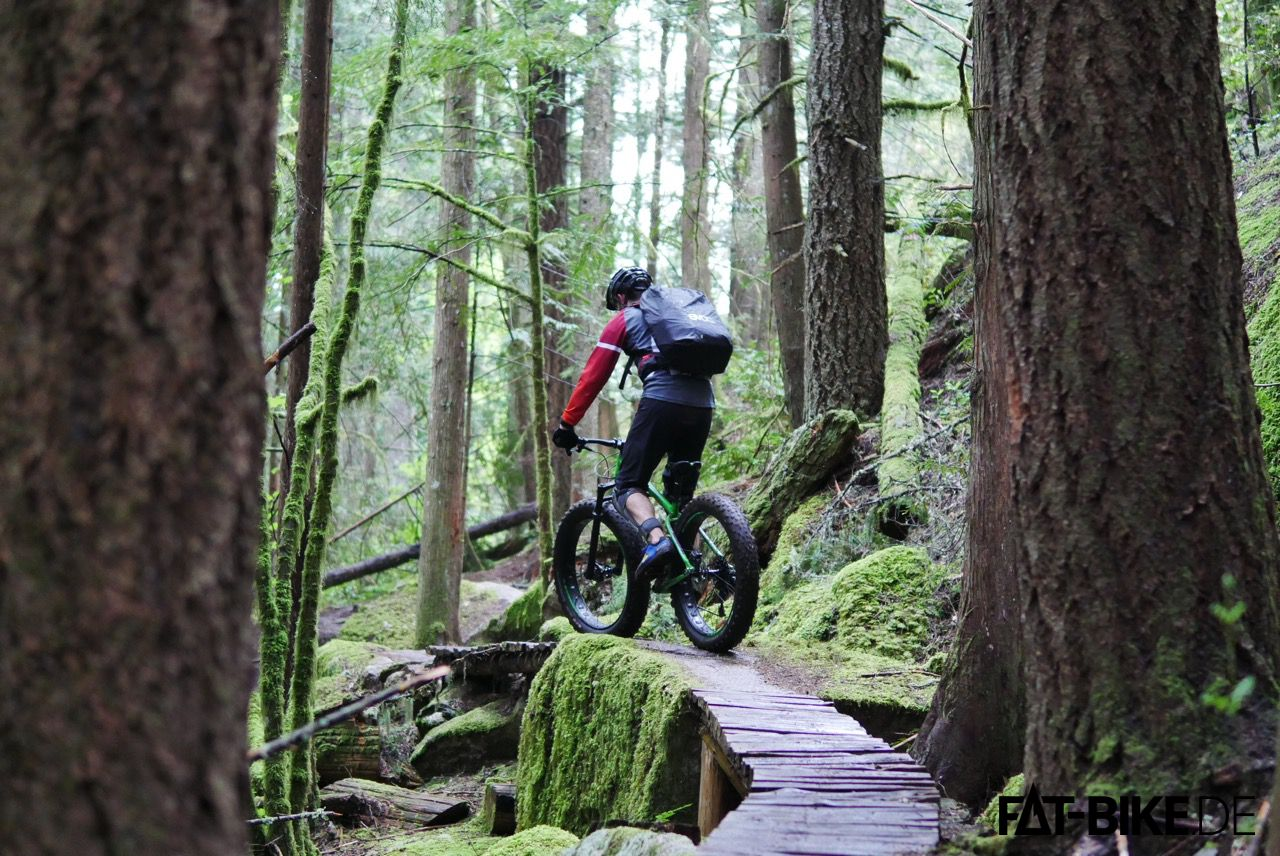 Kona FATBike Wozo auf dem Treasure Trail in Squamish