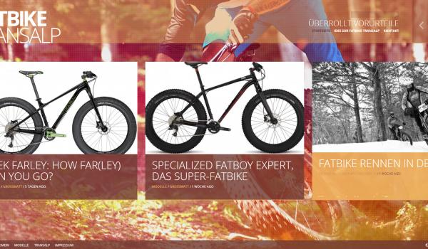 Neues Design für fatbike-transalp.de