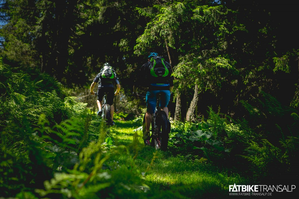 Deuter Trans Alpine Pro bei der FATBike Transalp