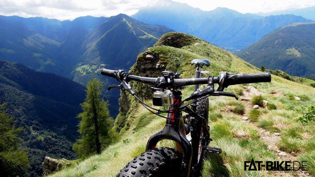 Der Trail am Grat zum Monte Legnone