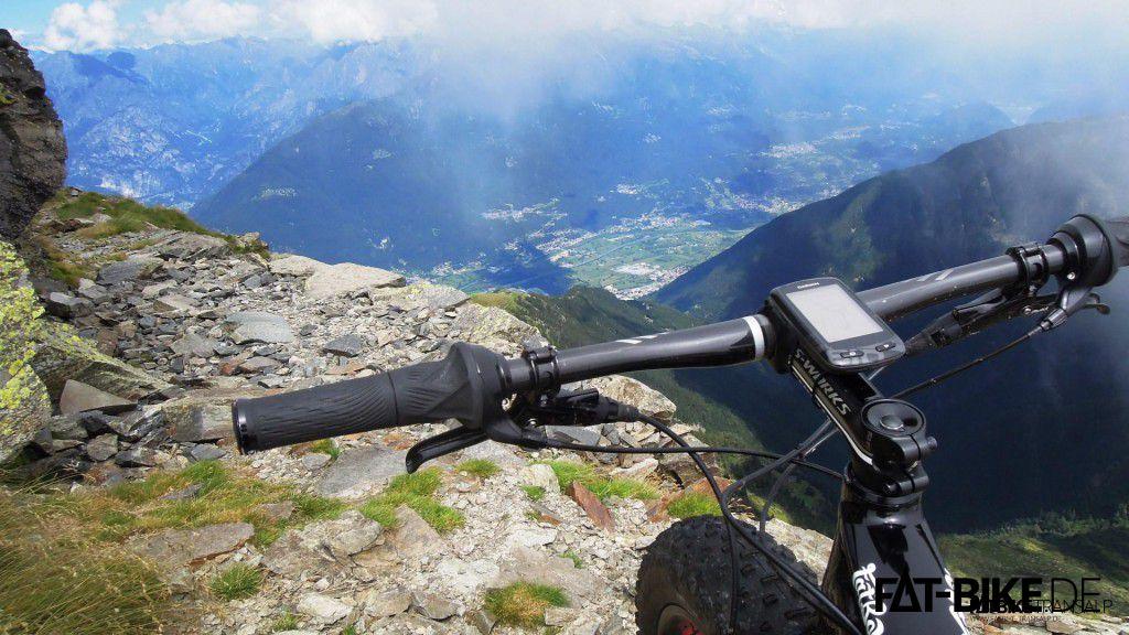 Trail hinab nach Colico