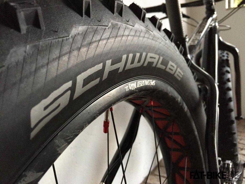 Test-Reifen Schwalbe Jumbo Jim Reifen auf Specialized FatBoy