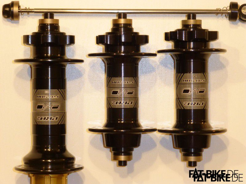 Von links nach rechts: FatSno 190 Rear, FatSno Front RBS, FatSno Front FBS