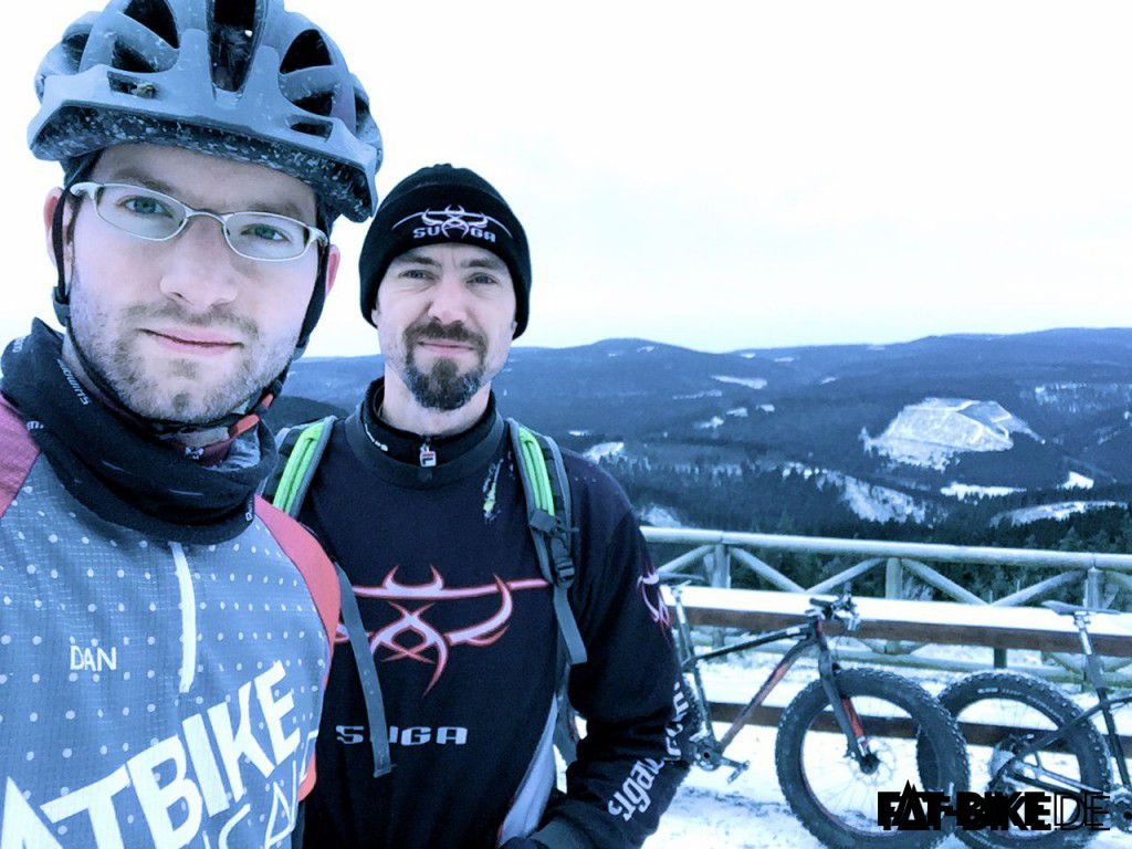 Dan & Matt beim FAT-Snow-Biken
