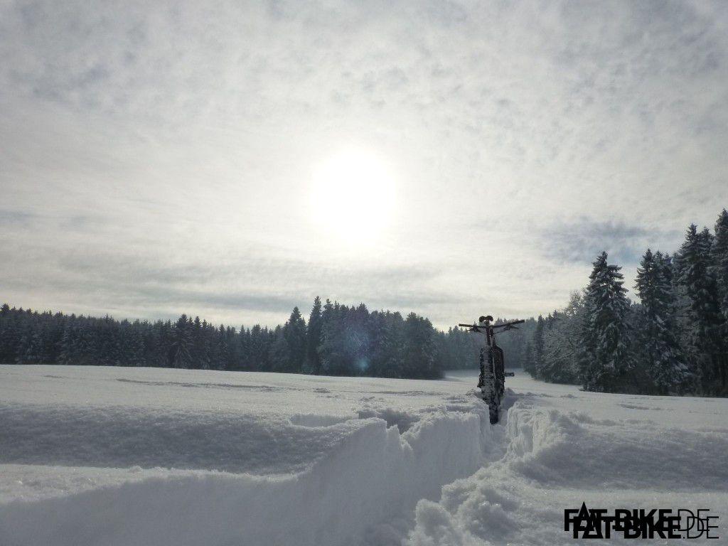 FAT im Schnee. Einfach schön!