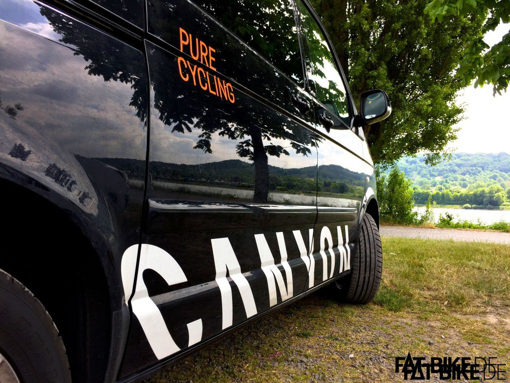 Zum Tourstart mit dem Canyon Van