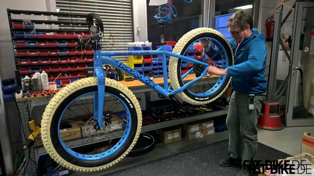 Ein Maxx Jagamoasta im Arctic Setup. Das offizielle Yukon Arctic Ultra Bike!
