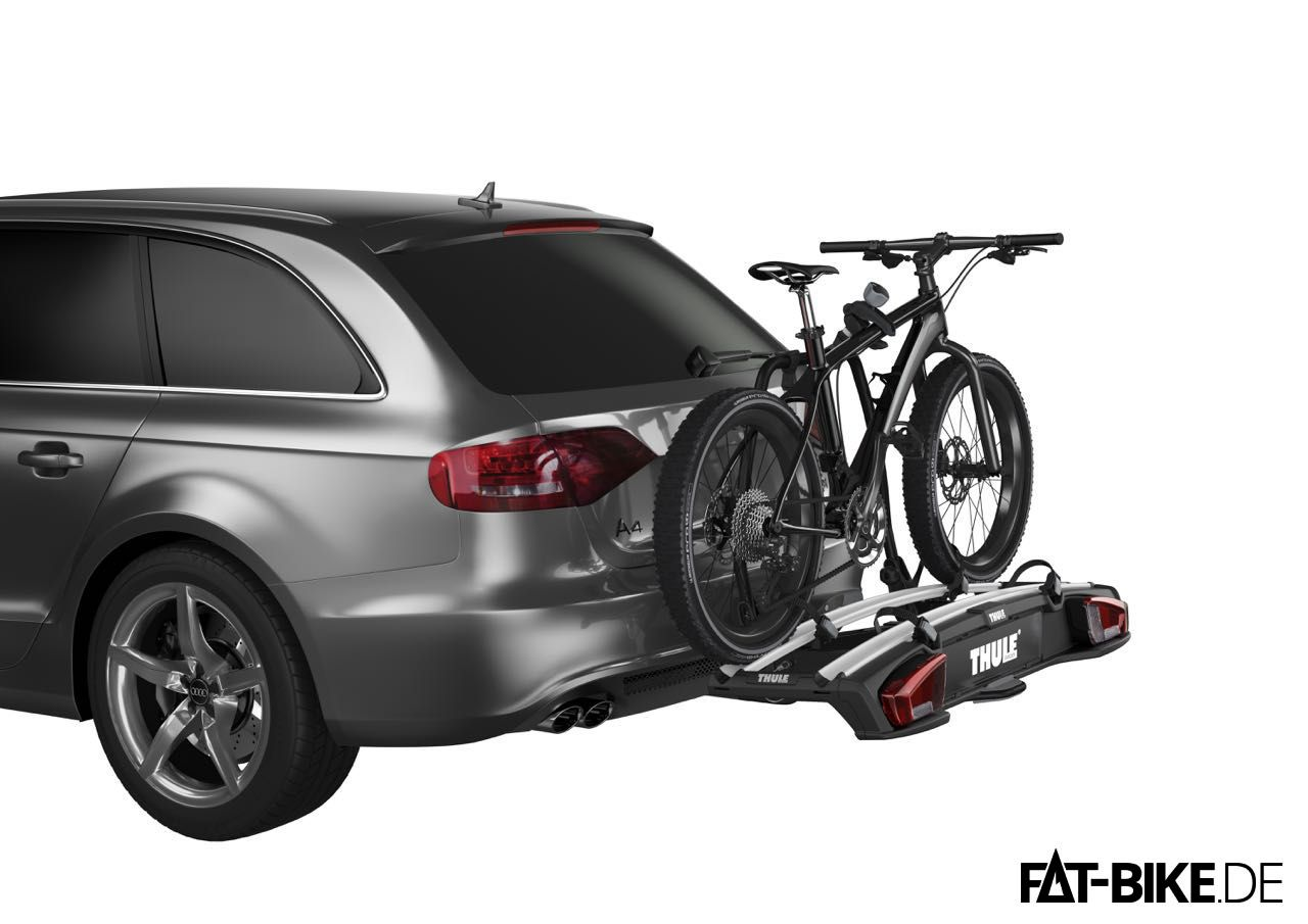 fatbike fahrradtr ger von thule f r die anh ngerkupplung. Black Bedroom Furniture Sets. Home Design Ideas