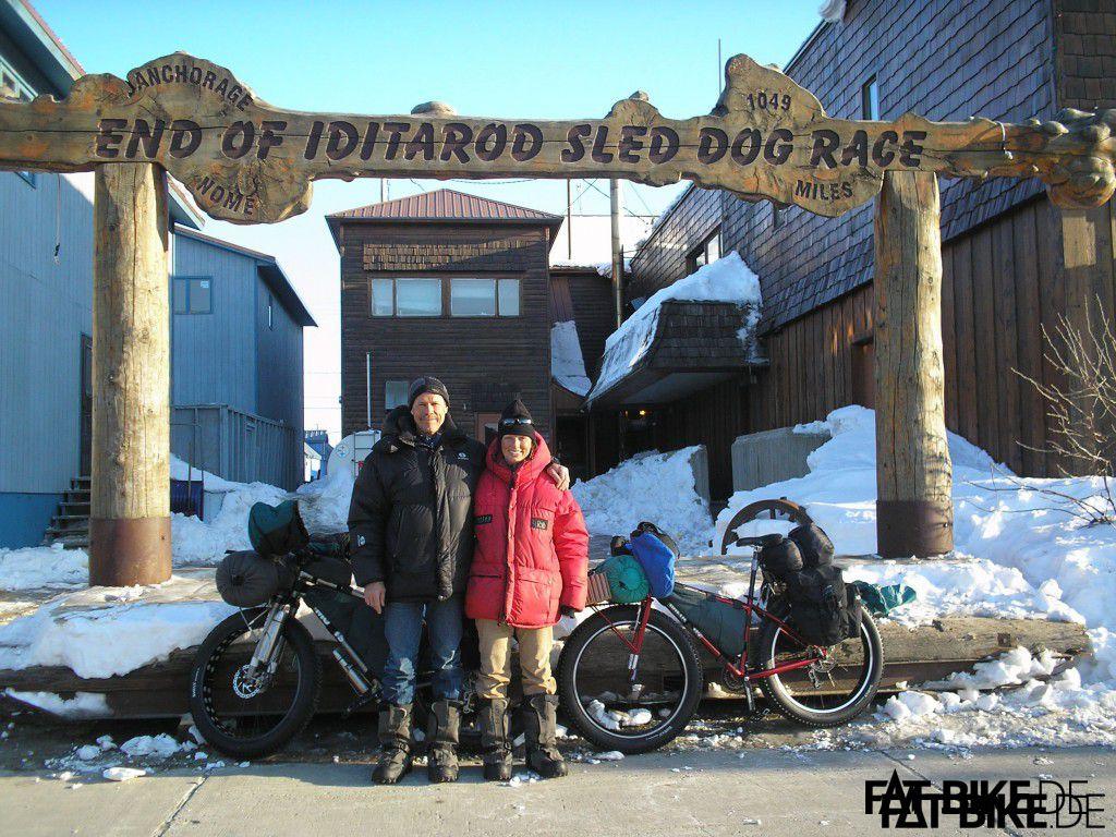 Kathi am Iditarod Trail