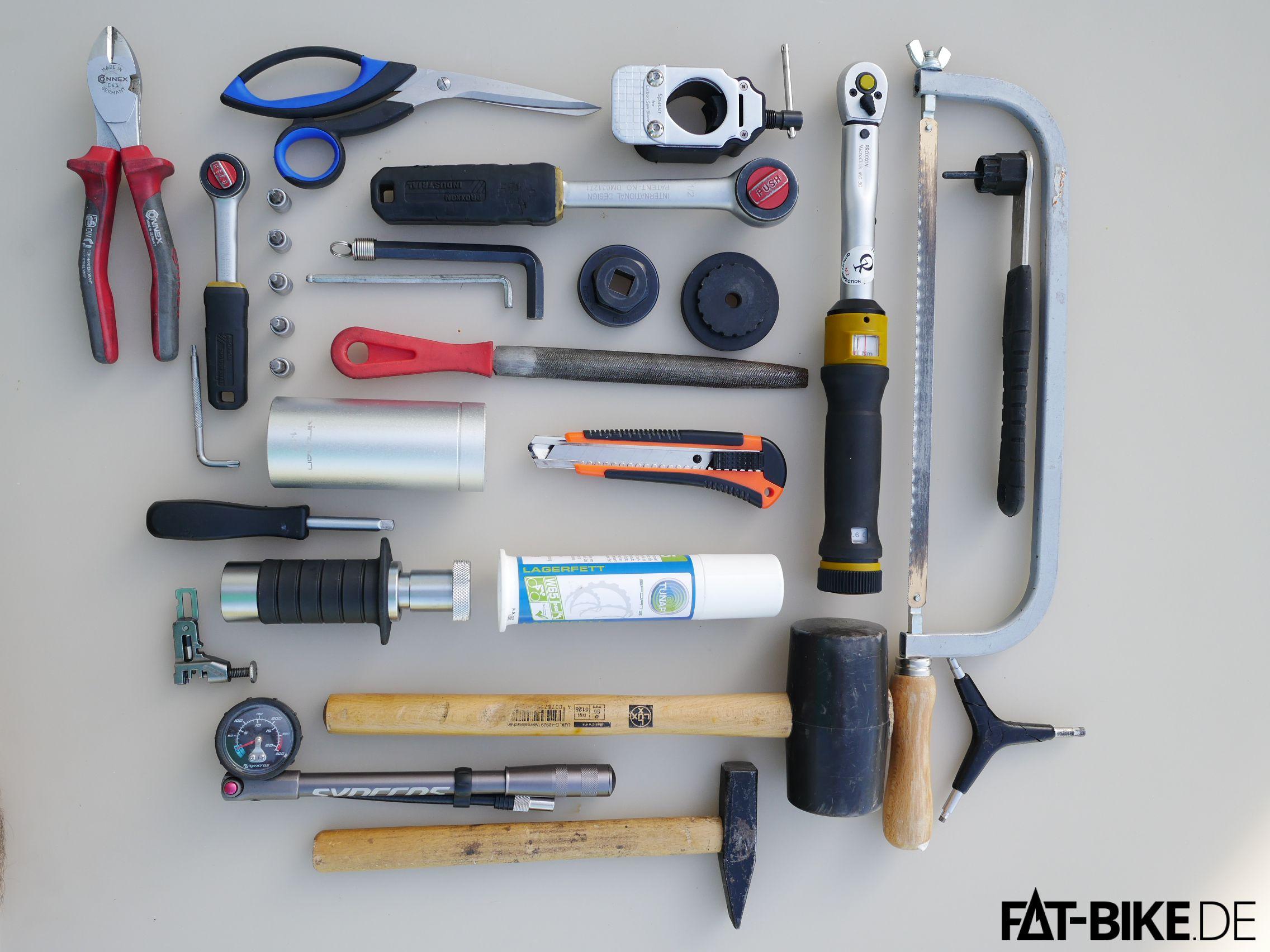 Das ist die nötige Werkzeugausstattung