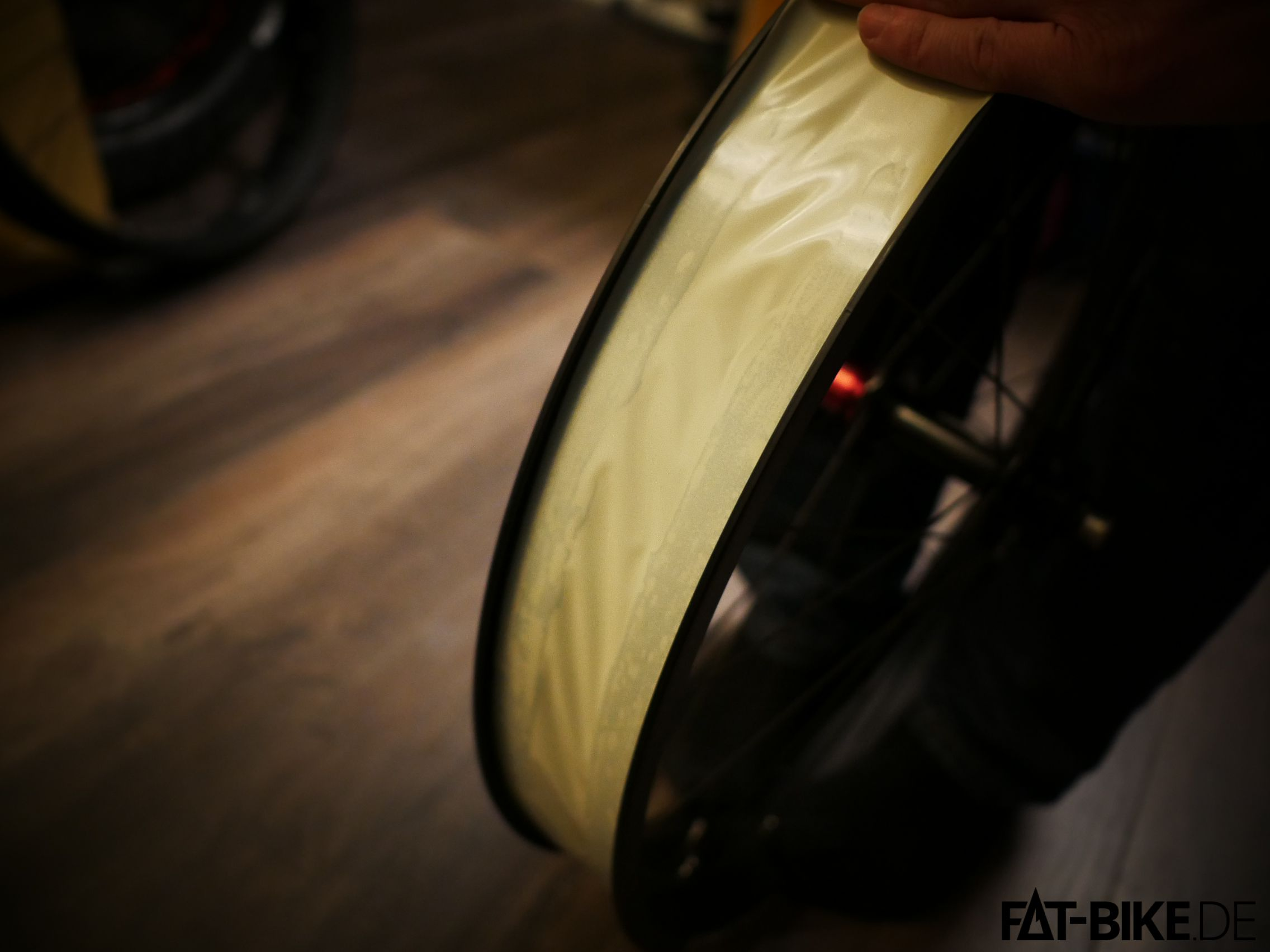 Frisch umgerüstet: Sun Ringle Tubeless Tape im Einsatz