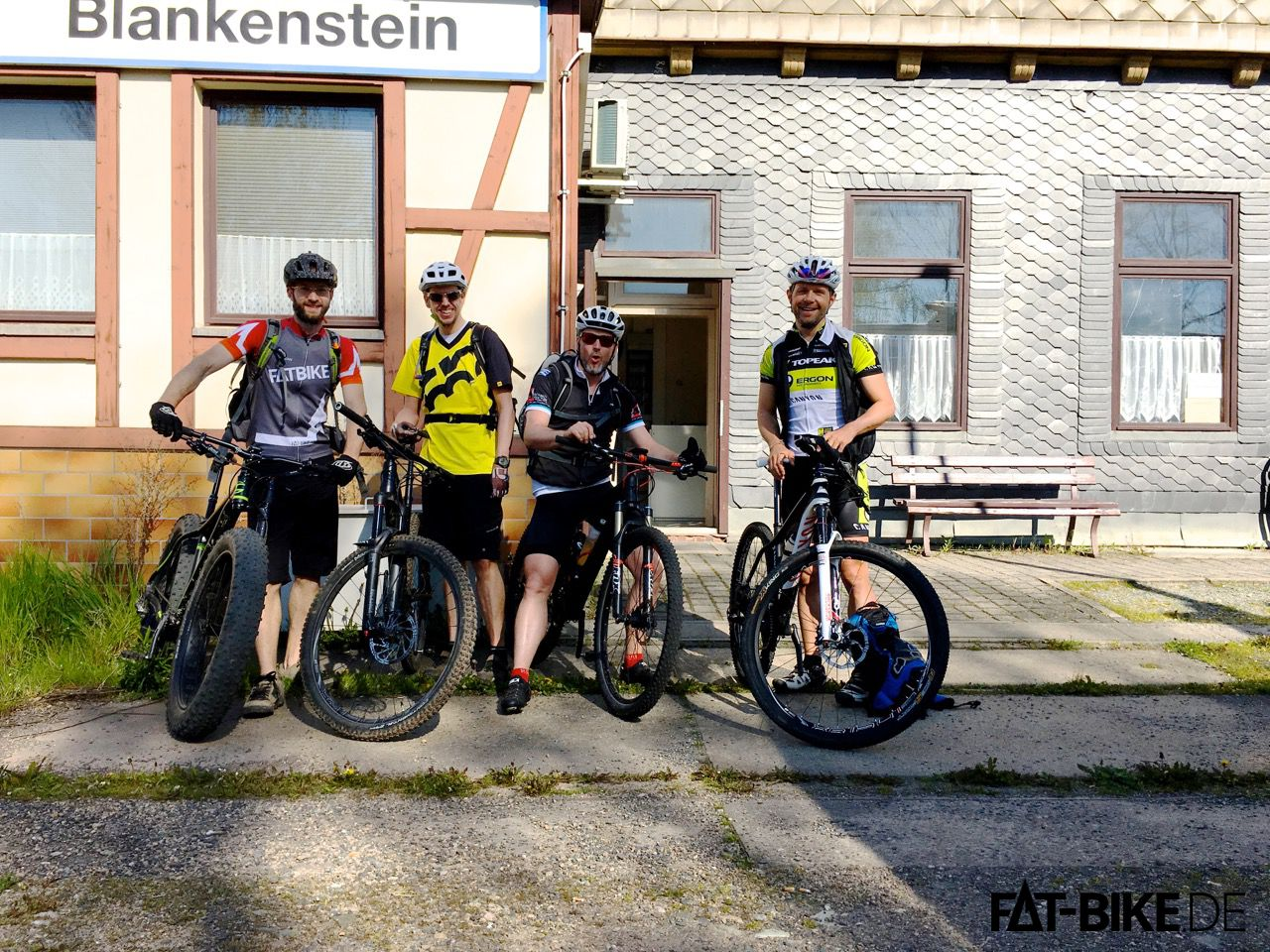 Startaufstellung in Blankenstein