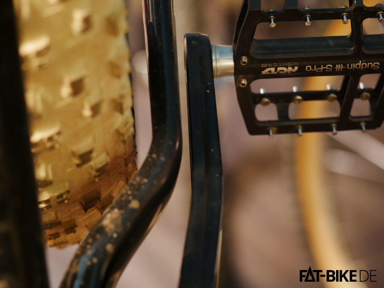 Optimale Einbaubreite mit 170mm Achse am FatBoy