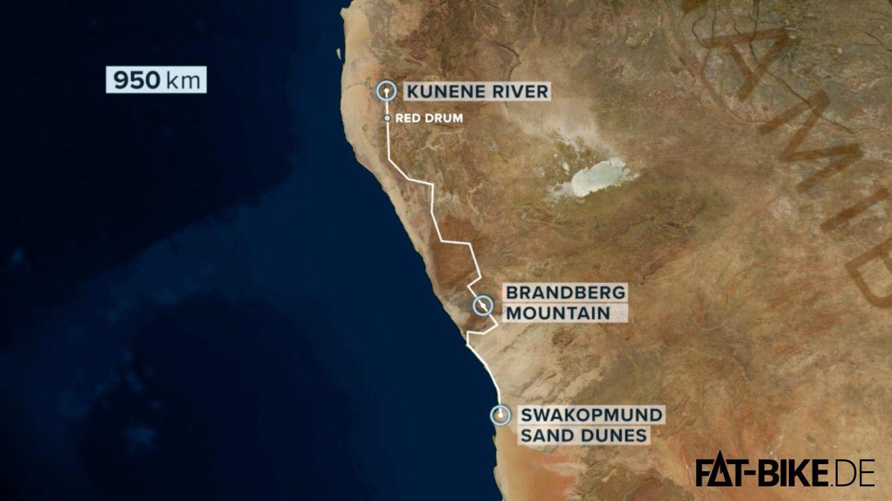 Die Route durch Namibias trockene Wildnis