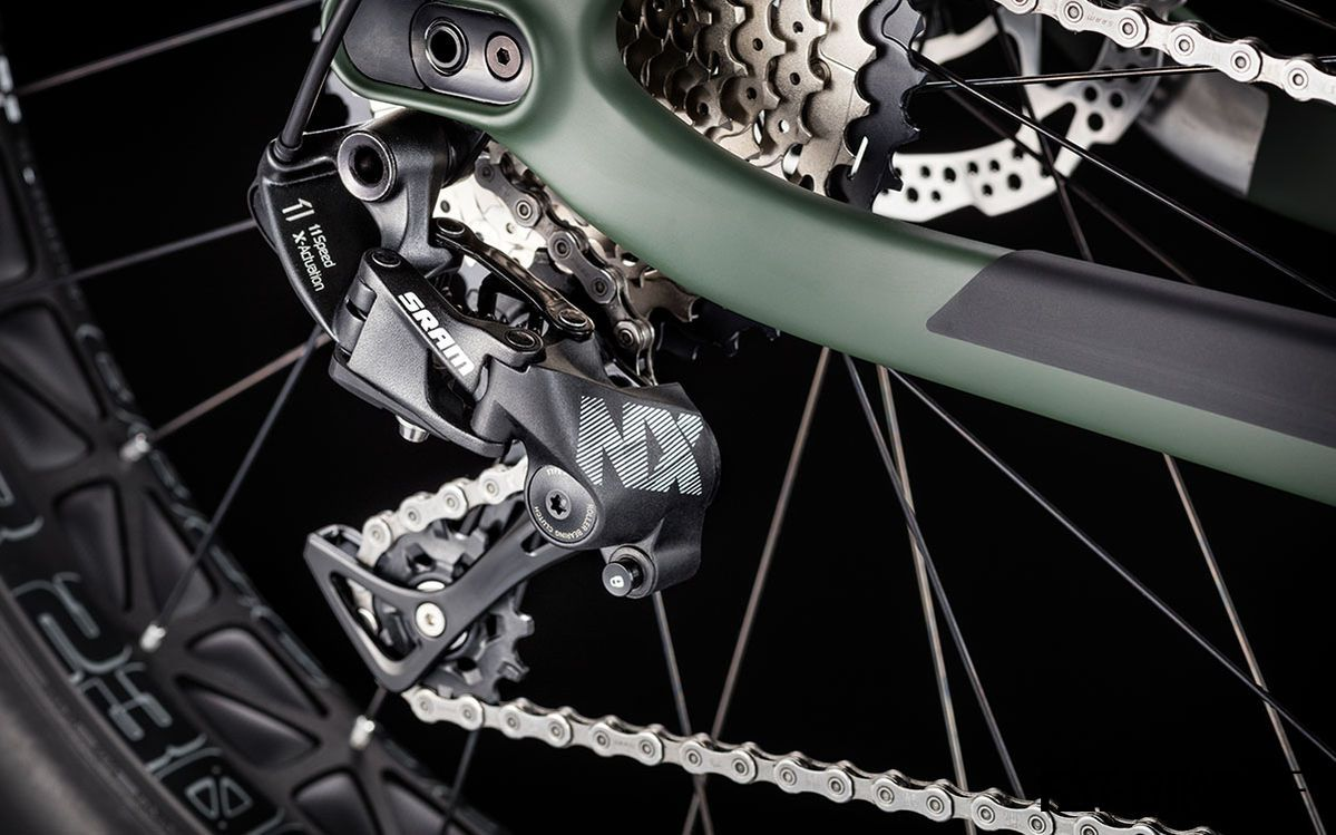 1x11-fach SRAM NX am Dude 8.0 CF