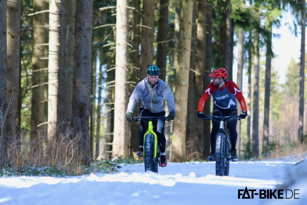 Winterbiken auf der Alle der Weltmeister und Olympiasieger rund um Oberhof
