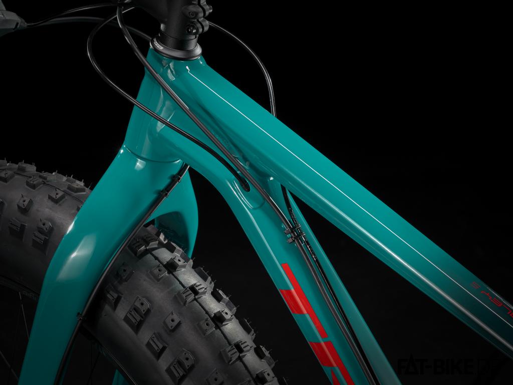 Aluminium-Rahmen und Carbon-Gabel am Trek Farley 5 (Quelle: trekbikes.com)